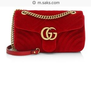 GuCci Ted velvet bag